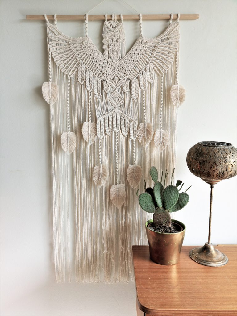liinala hand made amazing eagle macrame art