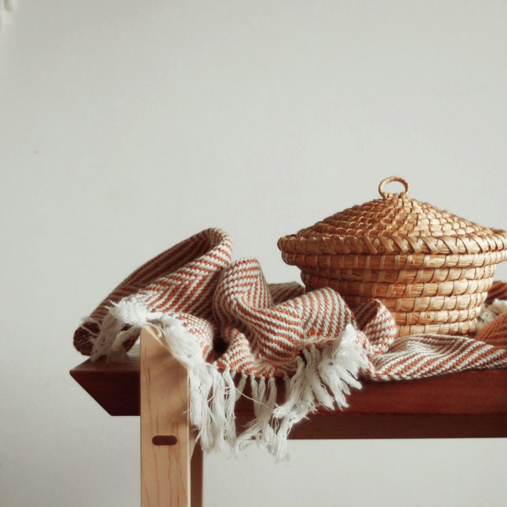 beautiful hand woven wool scarf