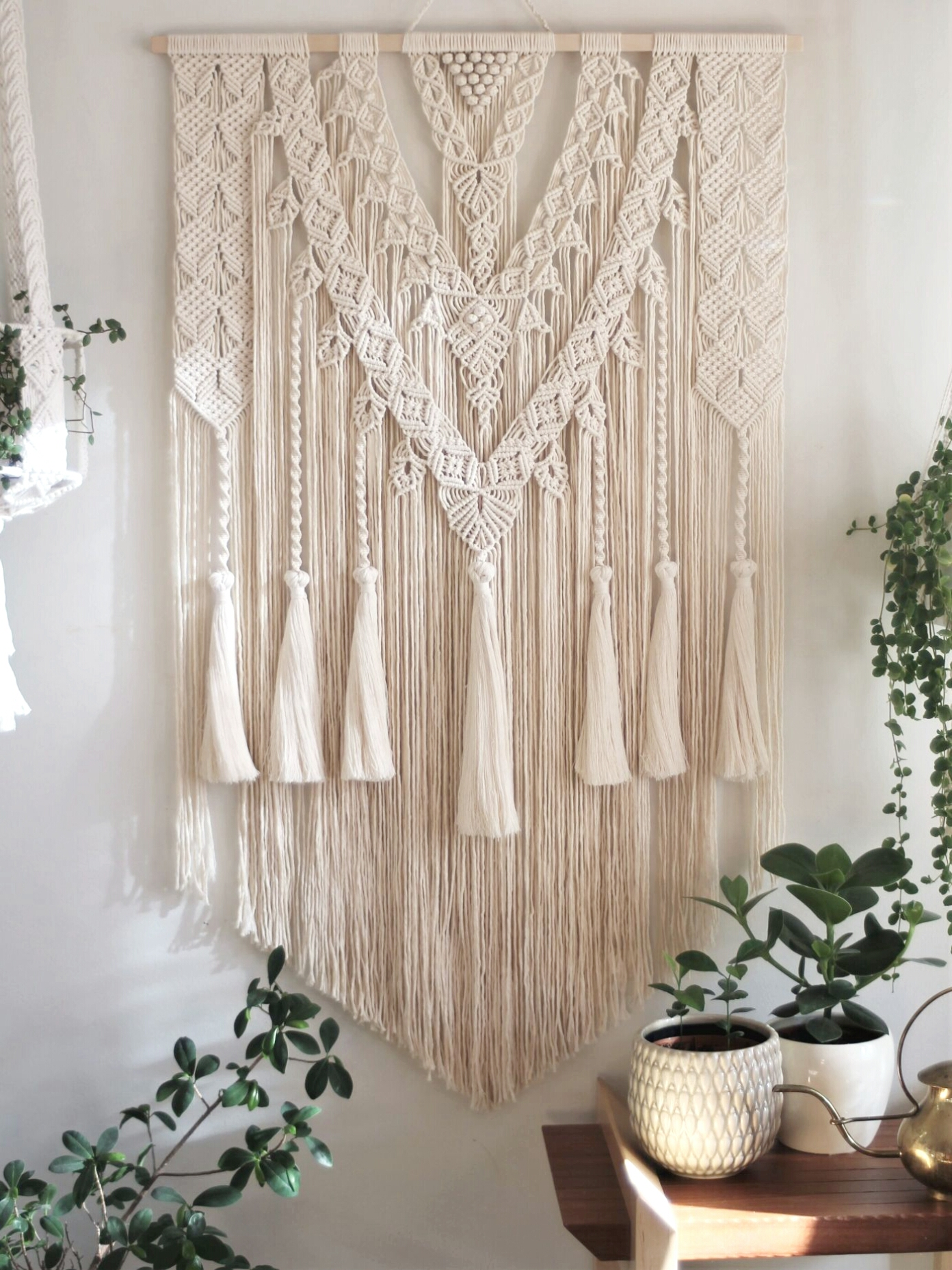 stunning, decorative macrame wall decor