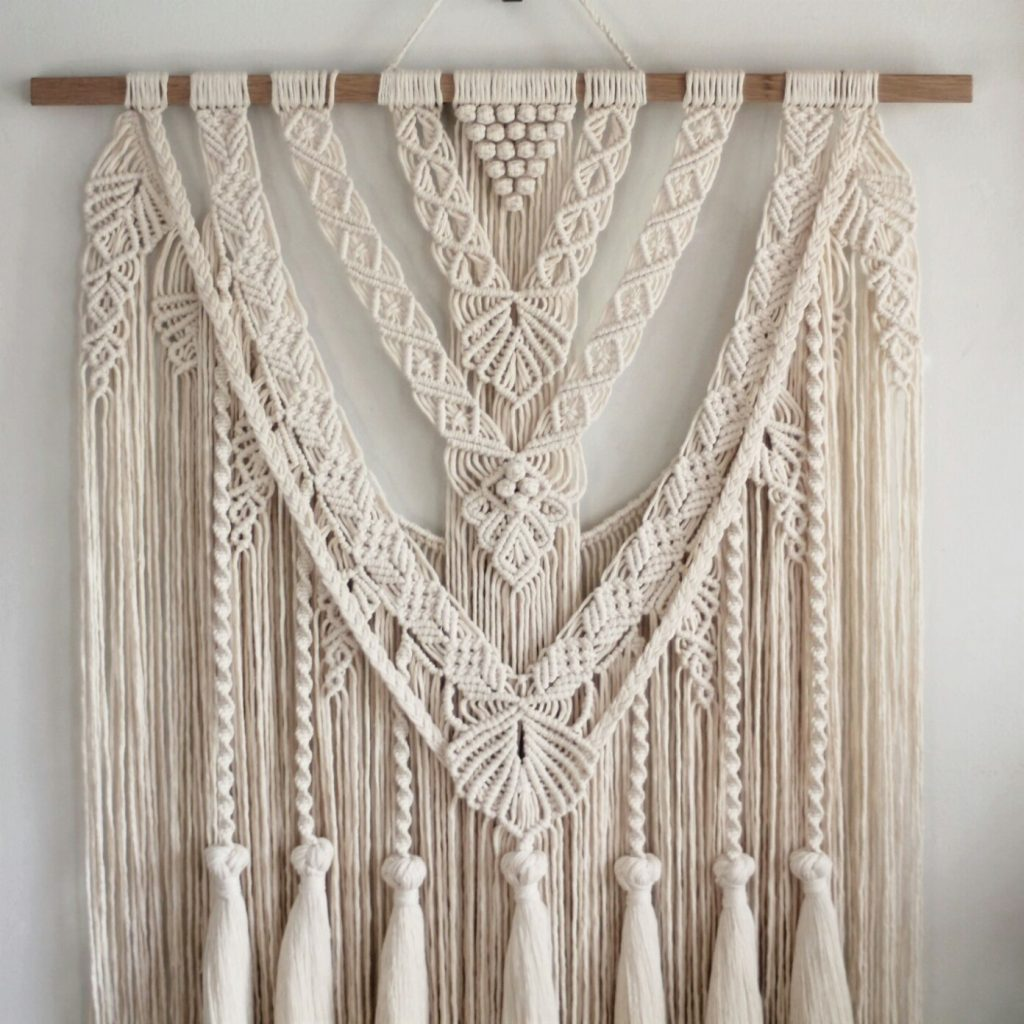 decorative, eco-friendly macrame wall hanging