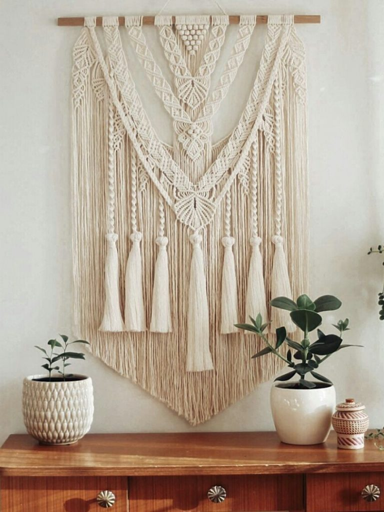beautiful, hand made macrame home decor